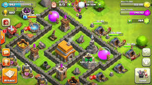 coc village layout level 5 clash of clans best defence startegy townhall level 5 youtube