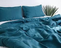 emerald 3 piece linen bedding set linen duvet cover 2