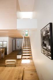 cool open tread staircase in staircase contemporary with open