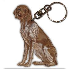 german shorthair pointer wooden breed keychain key ring