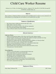 Resume Template For Kids Child Care Resume Sample Jobs Billybullock Us