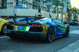 rainbow lamborghini rainbow vomit wrap lambo shitty car mods