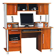 Computer Desks Office Depot Empire Computer Desk With Hutch And Usb Hub 60 58 H X 59 58 W X 25