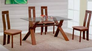 Glass Dining Sets 4 Chairs Rectangular Glass Dining Table And Chairs Walmart Dining Table