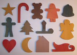 special miscellaneous wooden tree ornaments set of