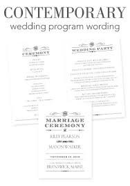 wedding ceremony program how to word your wedding programs invitations by