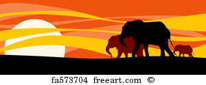 free elephant family prints and wall freeart
