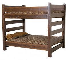 Barnwood Queen Over Queen Bunk Bed Bedroom Pinterest Queen - Rustic wood bunk beds