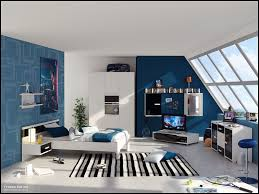 kids bedroom cool boys bedroom decor ideas with blue wall paint kids bedroom cool boys bedroom decor ideas with blue wall paint also white wooden bedding also stripes rug plus sloping glass window cool tips to