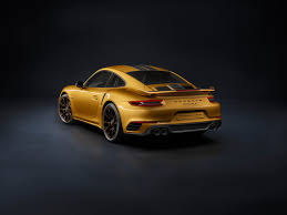 golden cars 2018 porsche 911 turbo s exclusive series is a 607 hp golden