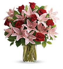roses and lilies you are my arrangement 8 roses and lilies in seminole ok