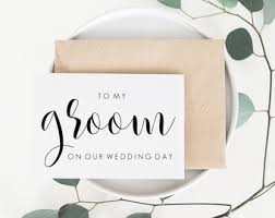 Card For Groom From Bride Groom Card Etsy