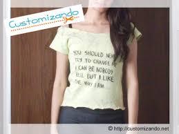 Top Blusinha (ou camiseta) com letra de música | CUSTOMIZANDO.NET  &NL91