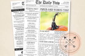 newspaper wedding programs printable newspaper inspired wedding program or welcome letter