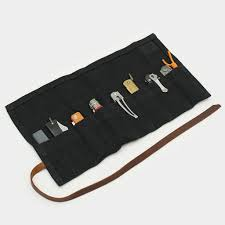 waxed canvas pocket knife roll shop cool material
