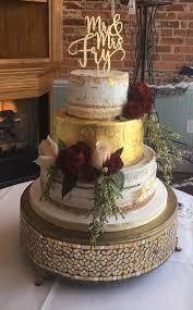 wedding cake gold custom cakes wedding cakes atlanta wedding gallery
