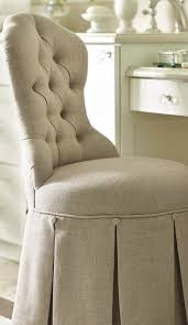 Perla Vanity Chair From The Button Tufted Louis Style Chair Back To A Gracefully