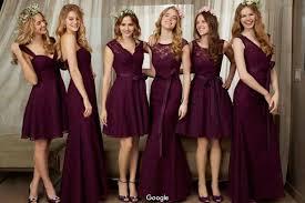 purple bridesmaid dresses 2016 new purple bridesmaid dresses different design of neck