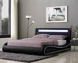 Led Bed Frame Led Bed Frame Or King Size Faux Leather Bed Led Headboard
