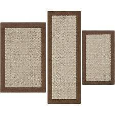 mainstays 7033 dylan nylon 3 piece accent rug set dark tan ebay