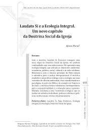 med si e social laudato si e a ecologia integral rev medellin 2017