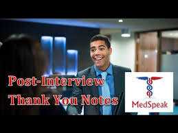 thank you note for the medical interview how to write it