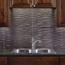 fasade kitchen backsplash panels kitchen back splash option fasade waves brushed nickel 18 in x