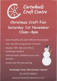 cartwheels christmas craft fair liskeard visit