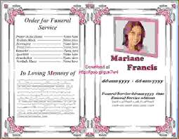 memorial service programs templates free 10 memorial service program templateagenda template sle