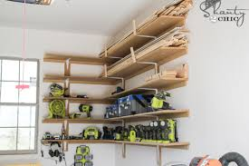 super easy diy garage shelves shanty 2 chic
