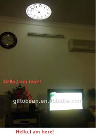 Alarm Clock With Light On Ceiling Clock On The Wall Large Projector Wall Clock Wall Projector Alarm