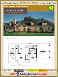 Price Plan Design All American Homes Modular Generation Ranch Homes Series Villa