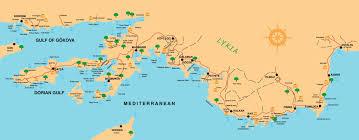 Istanbul Turkey Map Maps Of Marmaris National Park