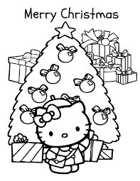 kitty holiday coloring u0026 coloring pages