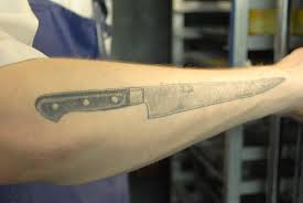 chef knife tattoo tribal image details