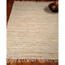 Shipping Rugs Natural Area Rugs Hand Woven Brilliance Jute Leather Rug 9 U0027 X 12