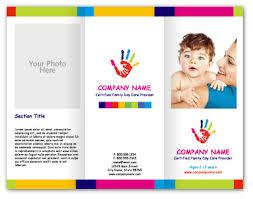 ngo brochure templates child care brochure template free fieldstation co