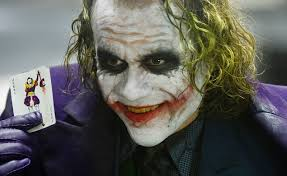 in the heath ledger disappeared into the joker the