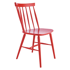 dining room vintage red dining chair totally made of wood