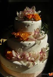 fresh flower wedding cake full service catering and event