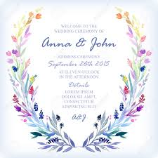 Wedding Card Design Background Wedding Invitation Design Template With Watercolor Floral Frame