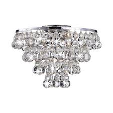 Flush Mount Chandeliers by Tranquil Crystal Bubble And Chrome Flush Mount Chandelier