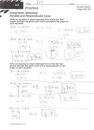 parallel and perpendicular lines one step equation worksheets