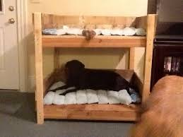 Rustic Dog Pet Bunkbed For Large And Extra Large By SameAsNever - Large bunk beds