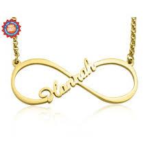 Infinity Name Necklace Infinity Jewellery Personalised Single Infinity Name Necklace