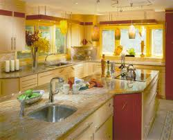 sunflower tuscan kitchen decor with multi pendant lamps above