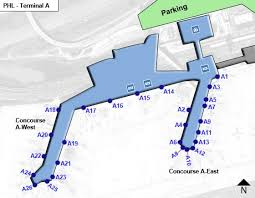 philadelphia international airport map iladelphia airport phl terminala jpg