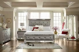upholstered bedroom set angelina 6 piece queen upholstered bedroom set metallic