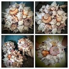 wedding seashell bouquet shell bouquets nautical weddings