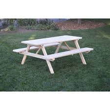 grey picnic tables you u0027ll love wayfair